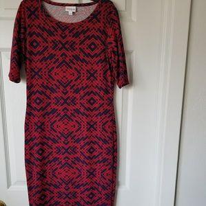 LulaRoe GEOMETRIC DESIGN DRESS SIZE XS BRAND NEW